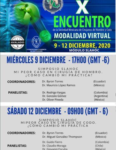 X encuentro de la sociedad Mexicana de Cirujanos de Hombro y Codo