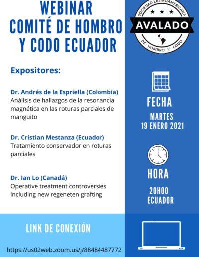 Webinar Comité de Hombro y Codo Ecuador