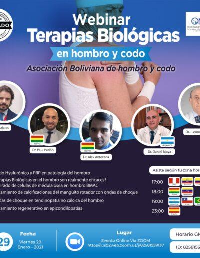Webinar Terapias Biologicas en hombro y codo
